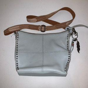 The SAK Sky Blue Silverlake Leather Crossbody Bag